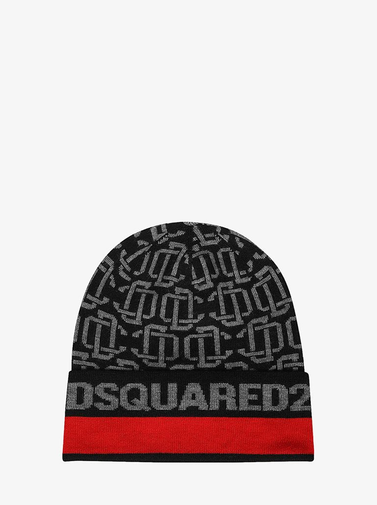 DC WOOL HAT MEN-ACCESSORIES HAT DSQUARED2 SMETS