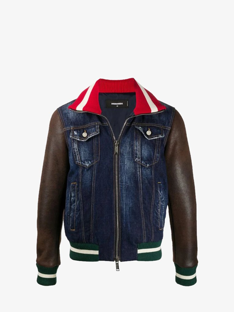 DENIM JACKET MEN-CLOTHING JACKET DSQUARED2 SMETS