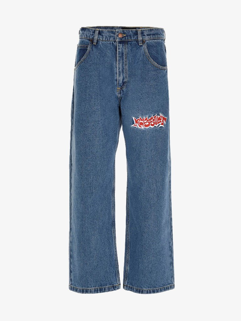 DENIM PANTS WITH EMBRODERY MEN-CLOTHING JEANS RASSVET SMETS