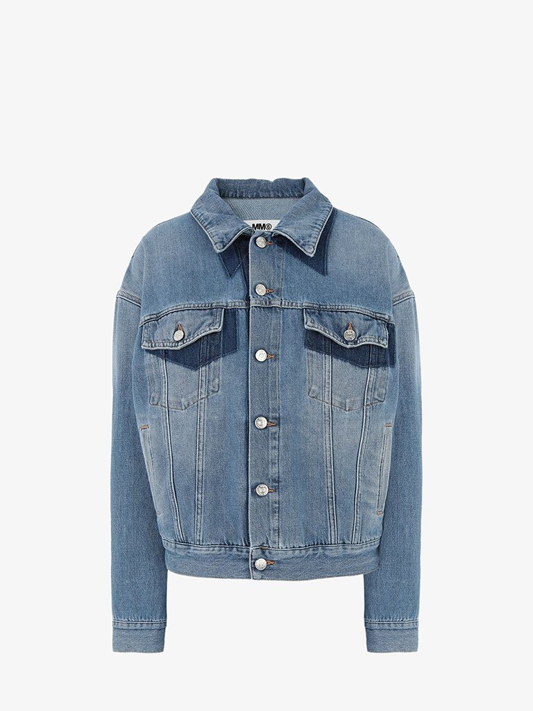 DENIM SPORTS JACKET WOMEN-CLOTHING JACKET MM6 MAISON MARGIELA SMETS