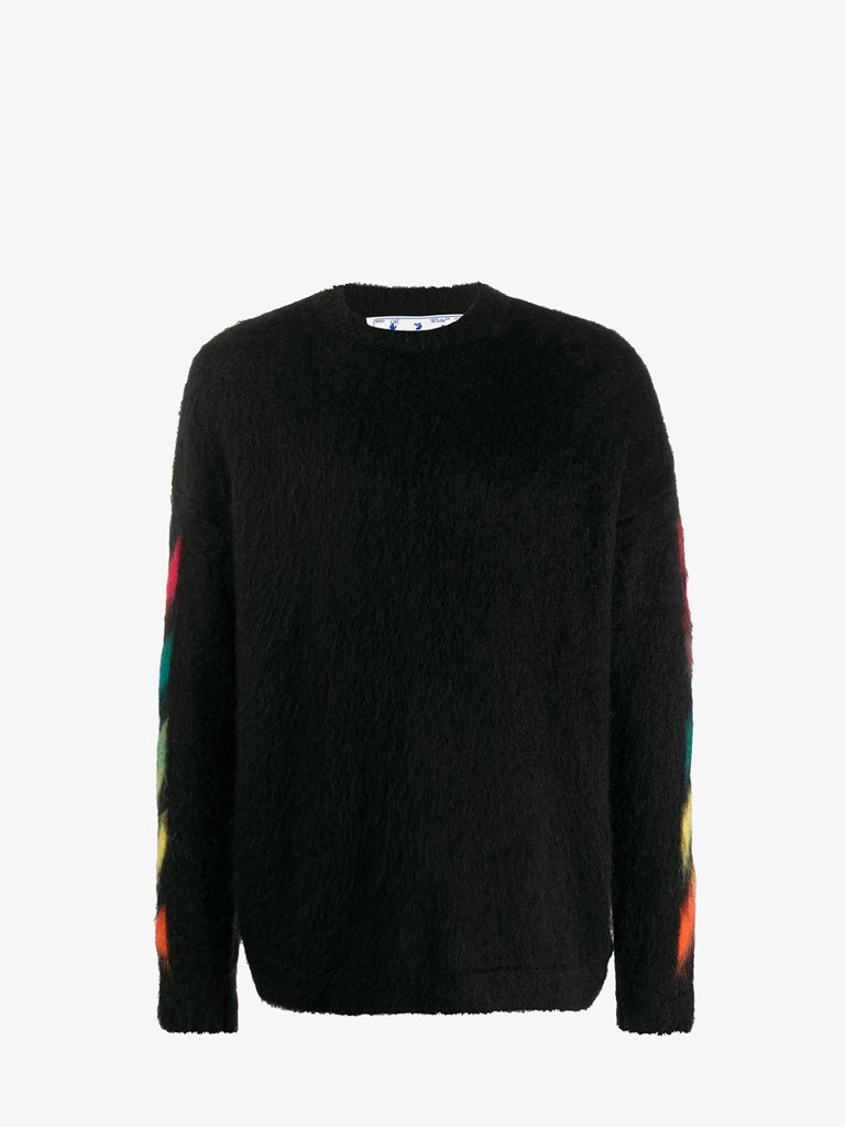 DIAG SWEATER * MEN-CLOTHING CREWNECK OFF-WHITE SMETS
