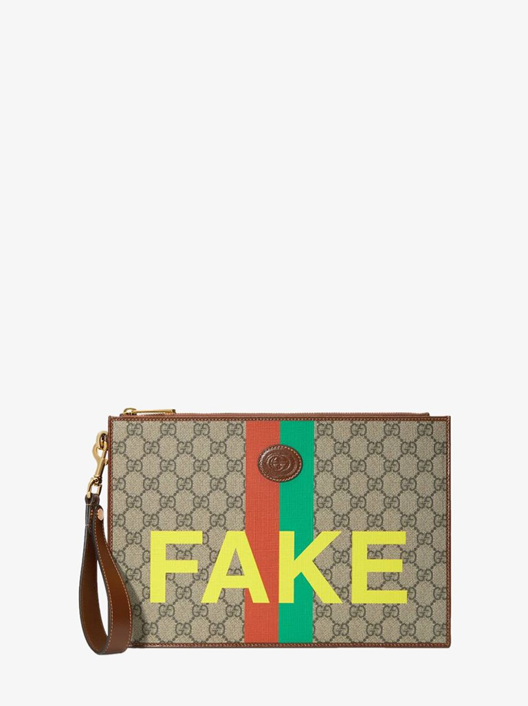 FAKE/NOT GG SUPREME STRIPES POUCH MEN-BAGS POUCH GUCCI SMETS