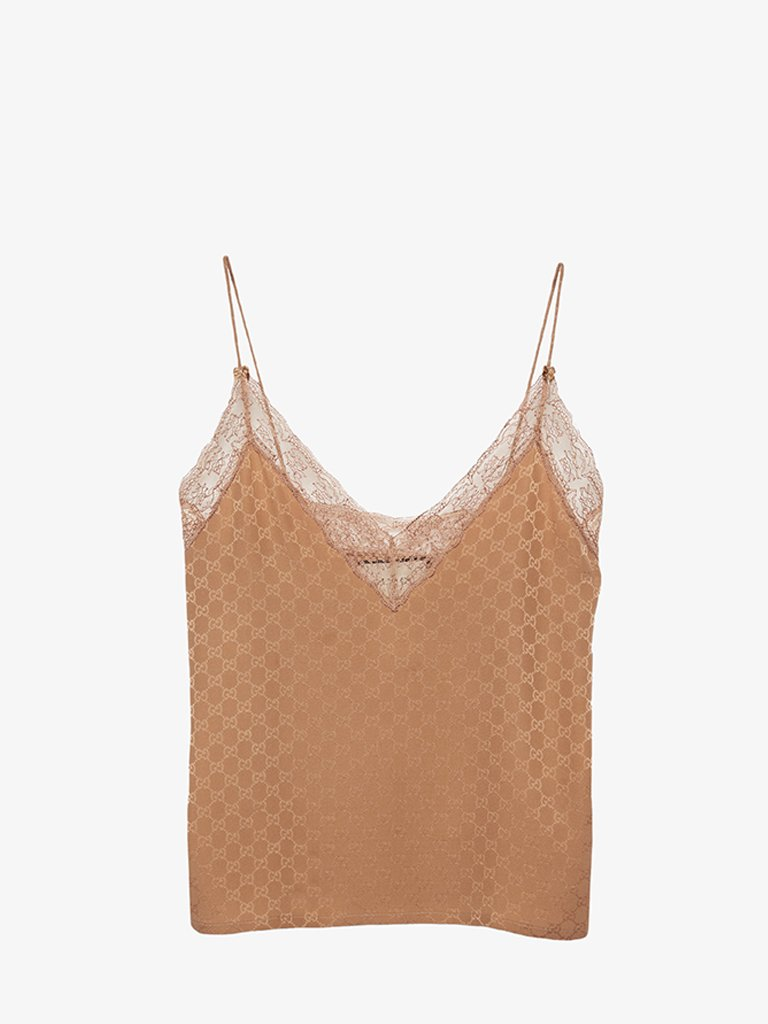 GG CREPE TANK TOP WOMEN-CLOTHING TOP GUCCI SMETS