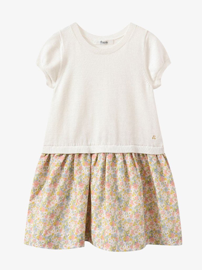 GIRLS' MIX MATERIAL DRESS KIDS-CLOTHING SHORT DRESS BONPOINT SMETS