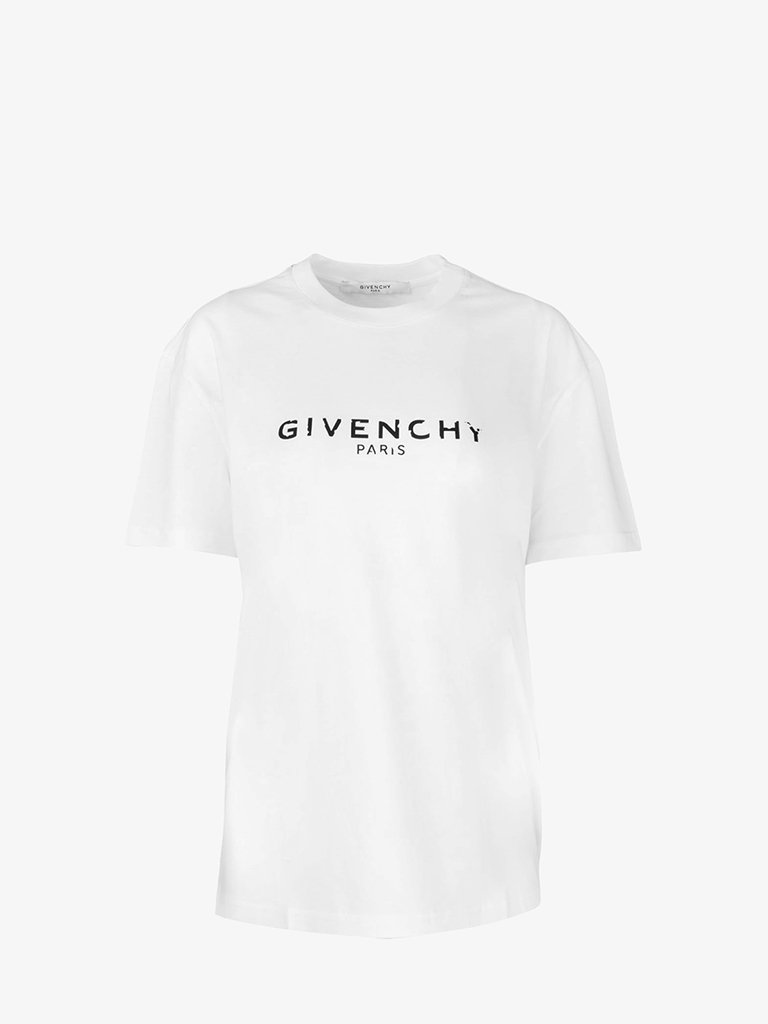GIVENCHY PARIS DESTROYED OVERSIZE T-SHIRT WOMEN-CLOTHING T-SHIRT GIVENCHY SMETS