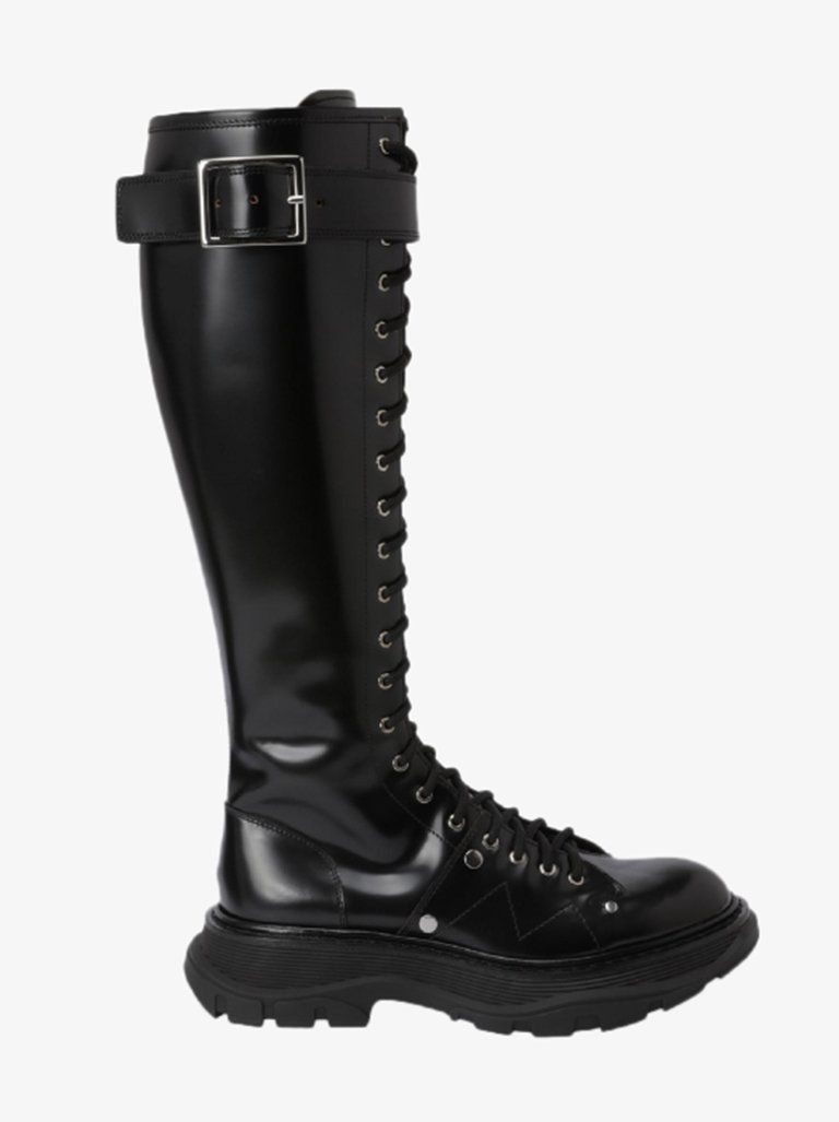 HIGH BOOTS WOMEN-SHOES BOOTS ALEXANDER MCQUEEN SMETS