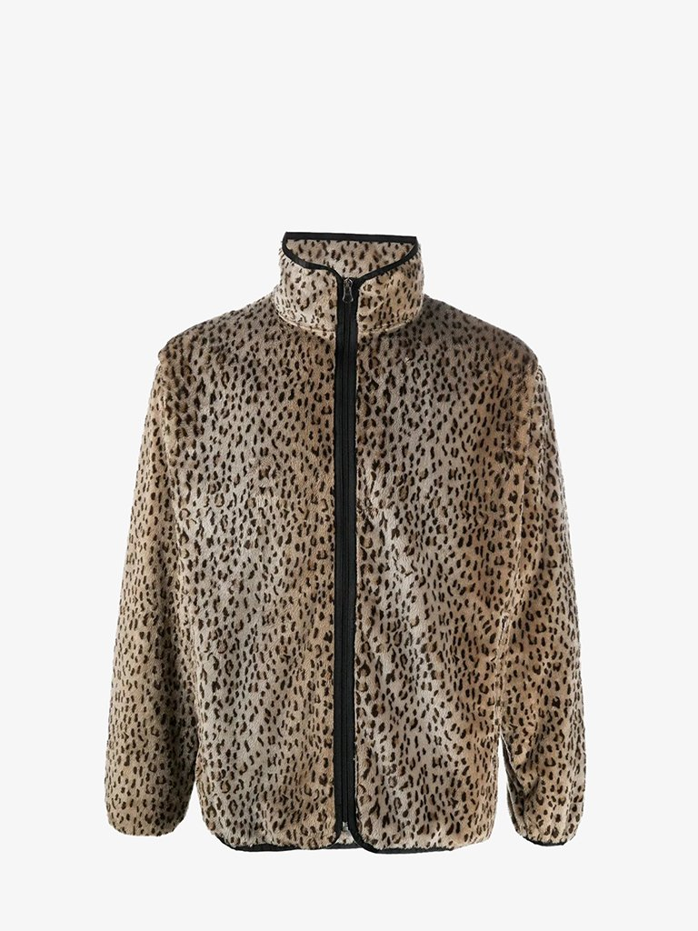 HM284 FAUX FUR PIPING JACKET MEN-CLOTHING JACKET NEEDLES S LEOPARD SMETS
