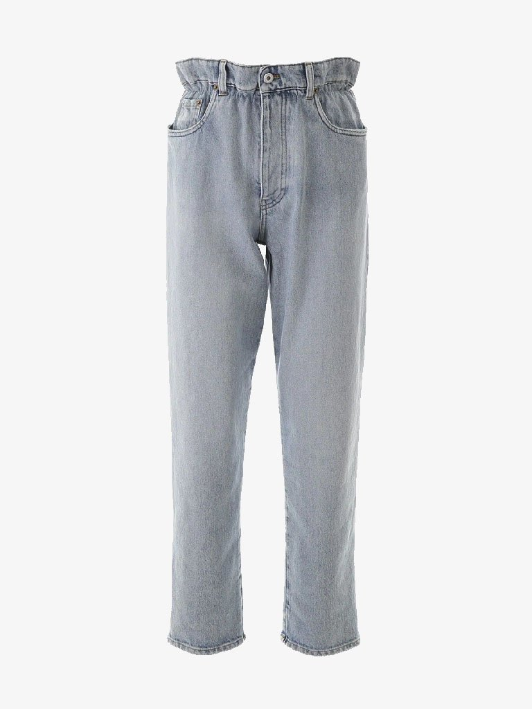 ICONIC HIGH-WAISTED JEANS WOMEN-CLOTHING JEANS MIU MIU SMETS