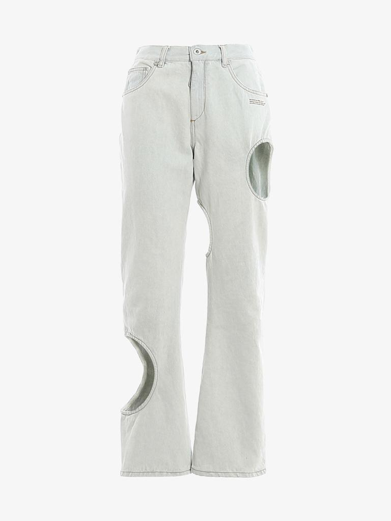 JEANS WOMEN-CLOTHING JEANS OFF-WHITE SMETS