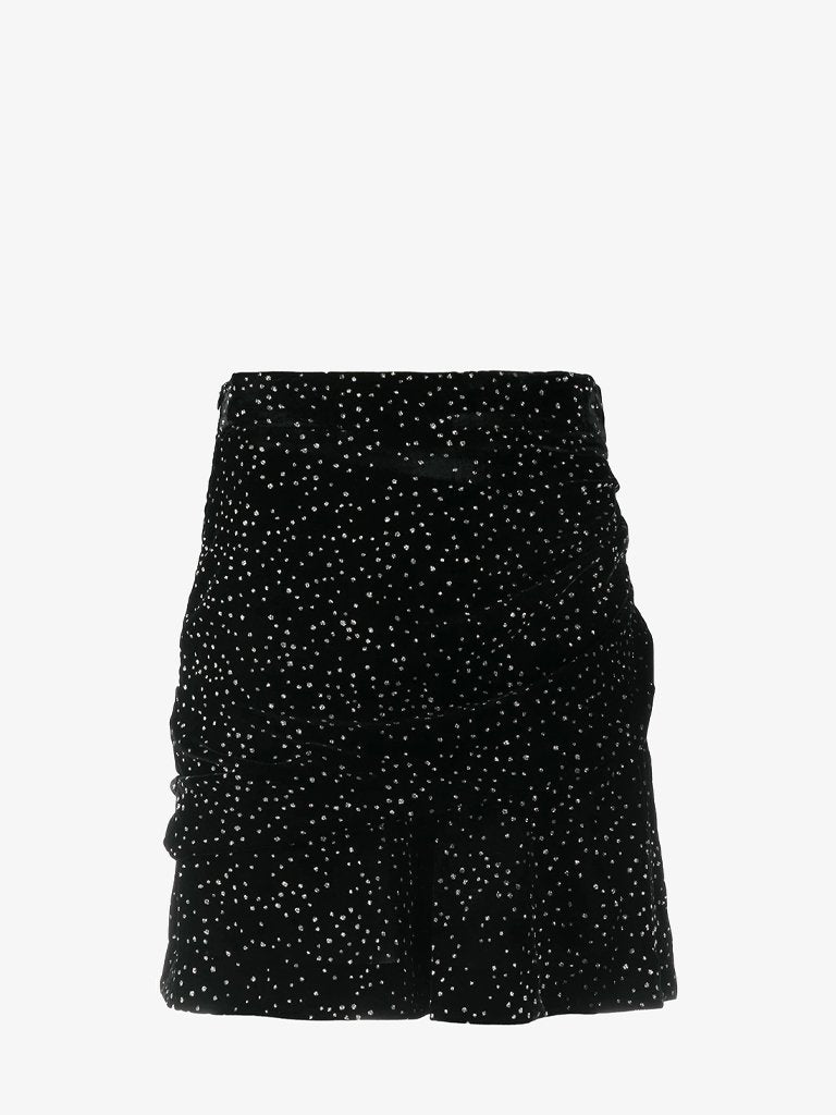 JOLETA VELVET STRASS SHORT SKIRT WOMEN-CLOTHING SKIRT IRO SMETS