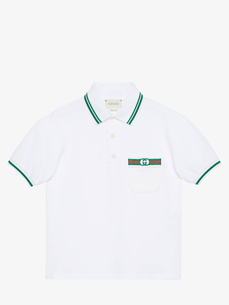 JUNIOR BOYS' STRETCHPOLO KIDS-CLOTHING POLO GUCCI SMETS