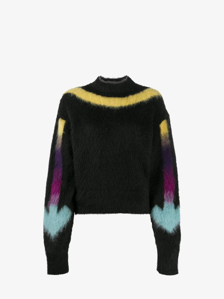 KNIT FUZZY ARROW SWEATER * WOMEN-CLOTHING CREWNECK OFF-WHITE SMETS