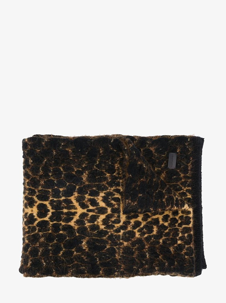 LEOPARD RELIEF SCARF WOMEN-ACCESSORIES SCARF SAINT LAURENT SMETS
