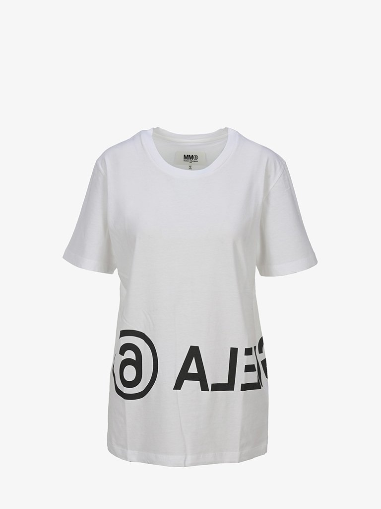 LOGO OVERSIZED T-SHIRT WOMEN-CLOTHING T-SHIRT MM6 MAISON MARGIELA SMETS