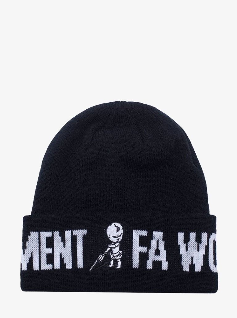 P705359 BABY BEANIE MEN-ACCESSORIES BEANIE FUCKING AWESOME BLACK SMETS