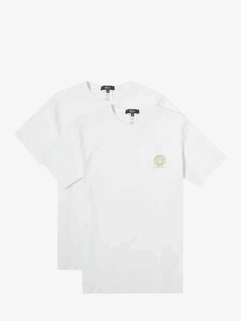 PACK OF 2 SMALL LOGO T-SHIRT MEN-CLOTHING UNDERWEAR VERSACE SMETS