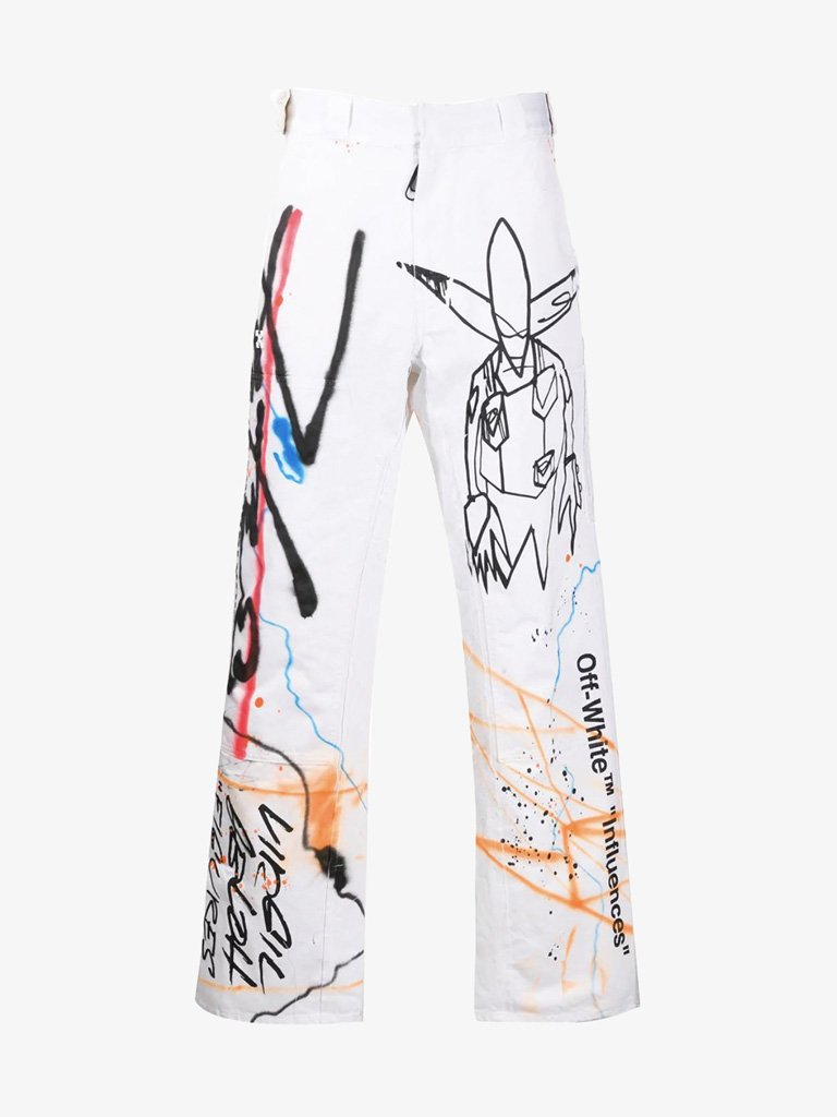 PANTS MEN-CLOTHING PANTS OFF-WHITE SMETS