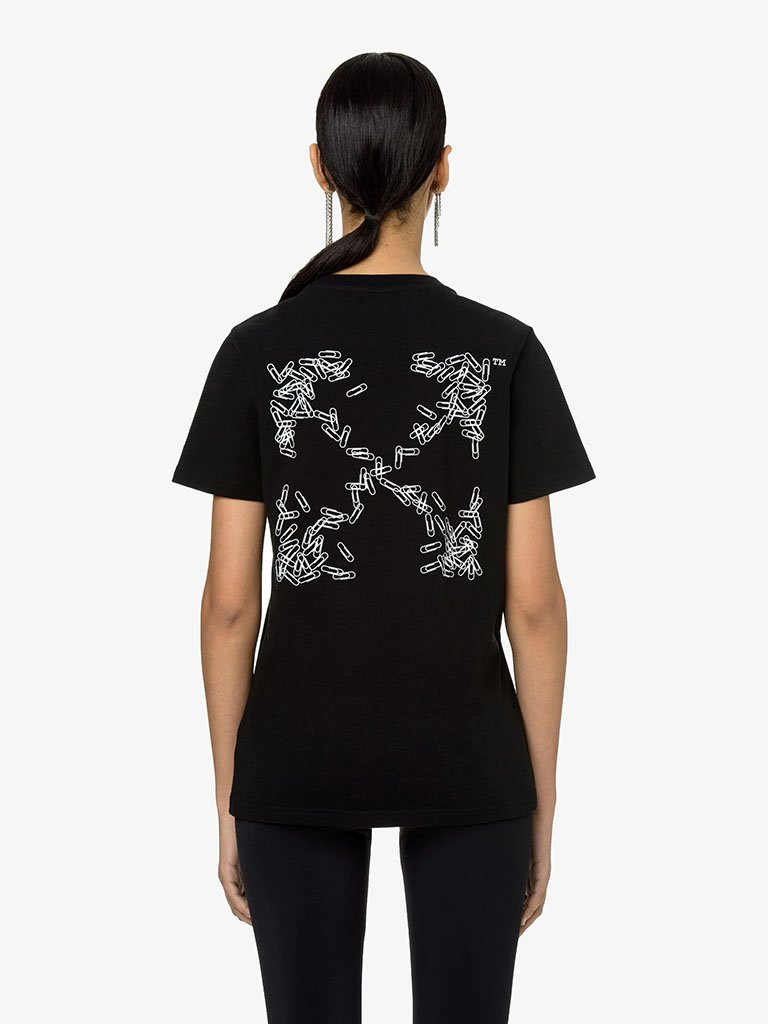 PAPER CLIP ARROWS T-SHIRT * WOMEN-CLOTHING T-SHIRT OFF-WHITE SMETS