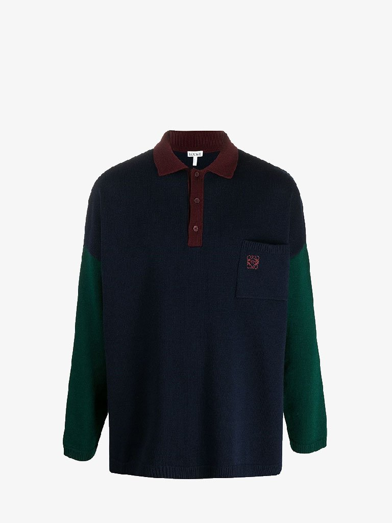 POLO COLLAR SWEATER MEN-CLOTHING CREWNECK LOEWE SMETS