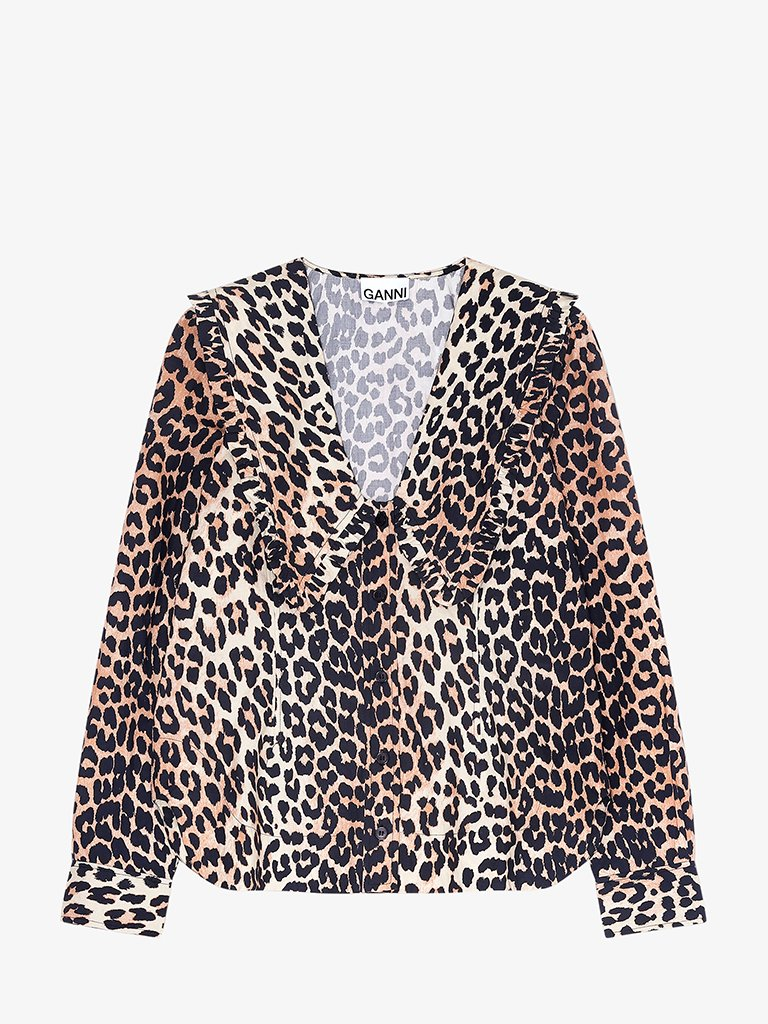 PRINTED BLOUSE WOMEN-CLOTHING BLOUSE GANNI SMETS