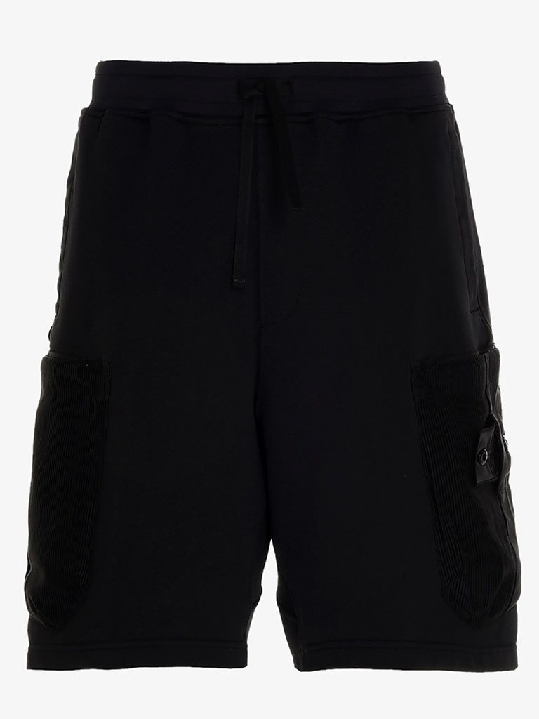 SHADOW MESH POCKET SWEATSHORTS MEN-CLOTHING SHORTS STONE ISLAND SMETS
