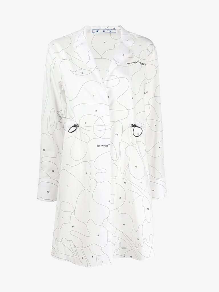 SHORT DRESS WOMEN-CLOTHING SHORT DRESS OFF-WHITE SMETS