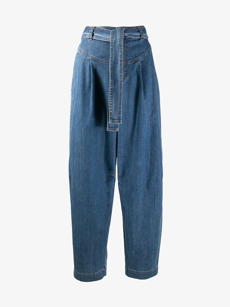 SIGNATURE BLUE DENIM JEANS WOMEN-CLOTHING JEANS SEE BY CHLOÉ SMETS