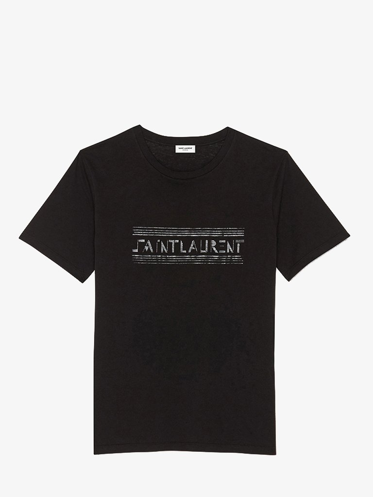 SL BAUHAUS PRINT T-SHIRT WOMEN-CLOTHING T-SHIRT SAINT LAURENT SMETS