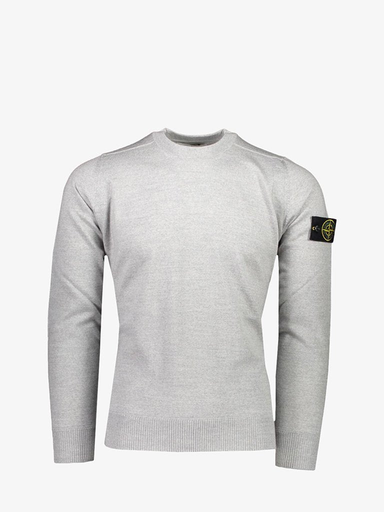 SLUB EFFECT CREWNECK MEN-CLOTHING CREWNECK STONE ISLAND SMETS