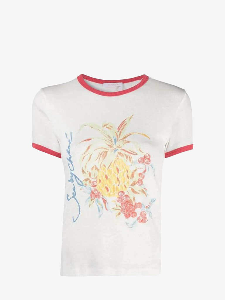 SPRING FRUITS T-SHIRT WOMEN-CLOTHING T-SHIRT SEE BY CHLOE SMETS