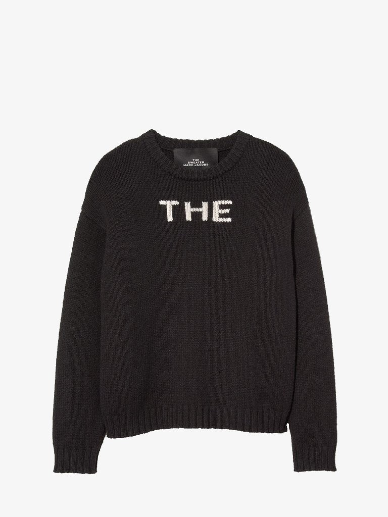THE LOGO CREWNECK SWEATER WOMEN-CLOTHING CREWNECK MARC JACOBS SMETS