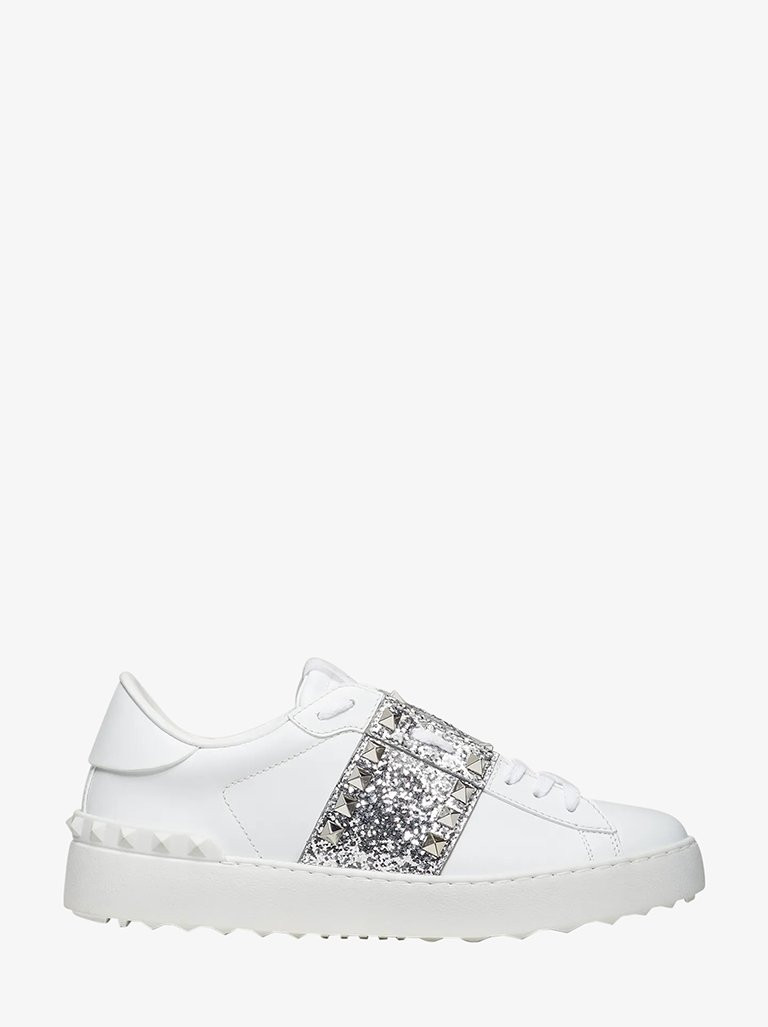 UNTITLED GLITTER SNEAKERS WOMEN-SHOES SNEAKERS VALENTINO SMETS