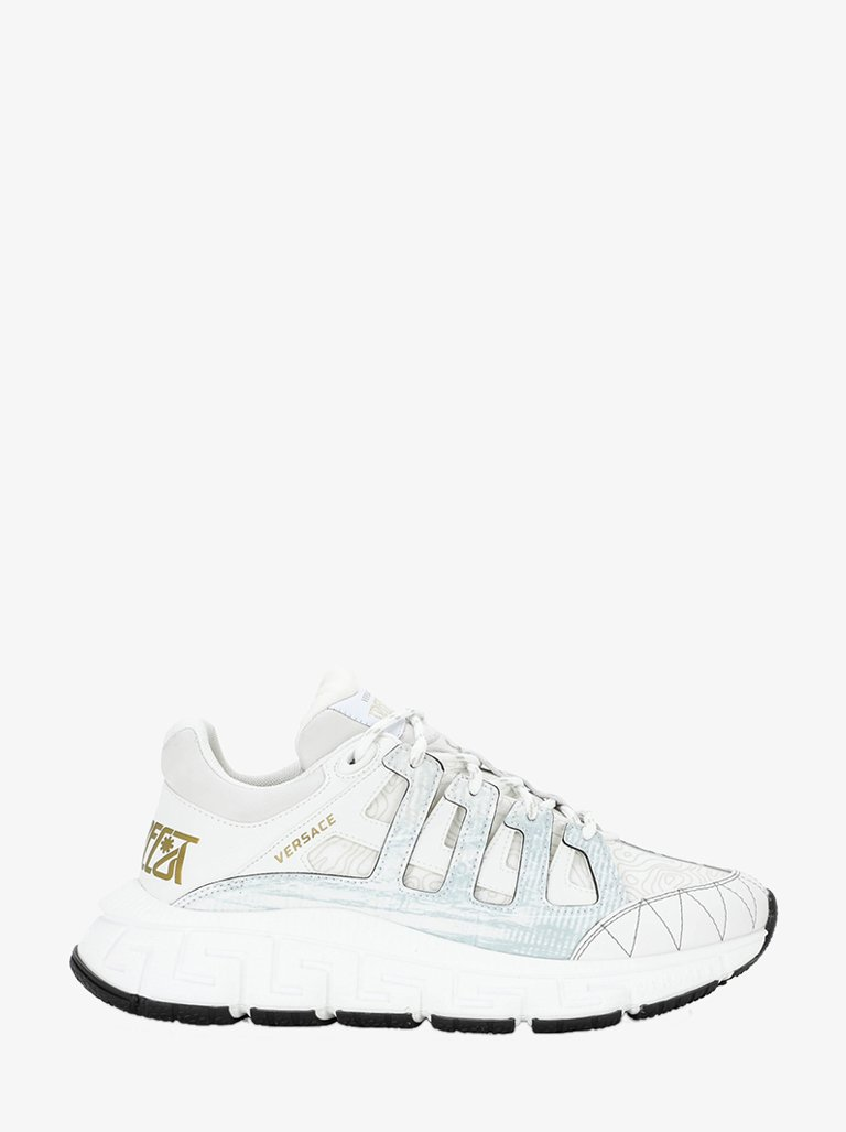 VERSACE VITELLO TESSUTO MIX SNEAKERS MEN-SHOES SNEAKERS VERSACE SMETS