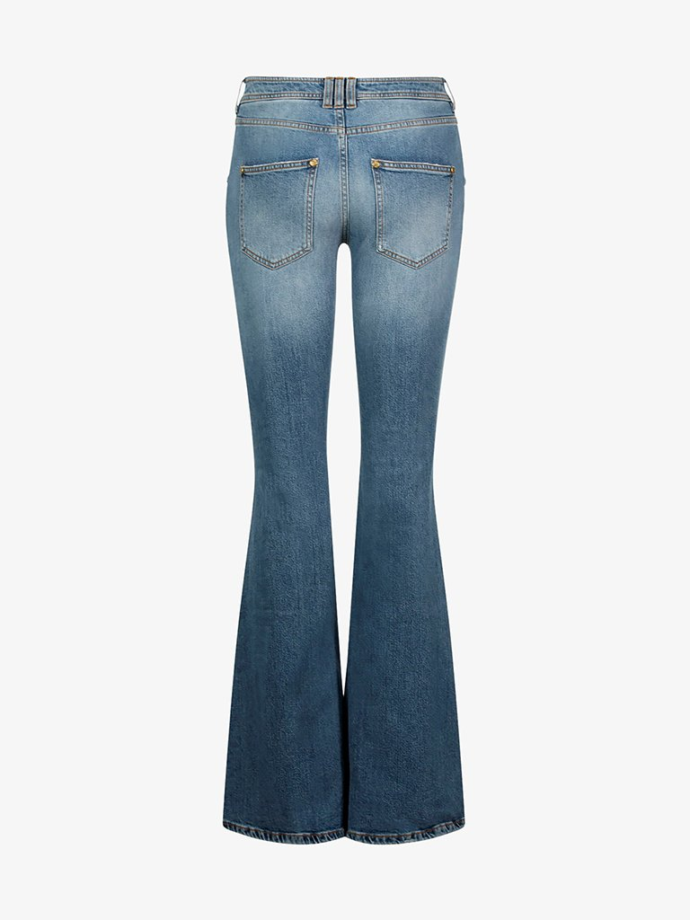 VINTAGE FLARED HIGH WAIST JEANS WOMEN-CLOTHING JEANS BALMAIN SMETS