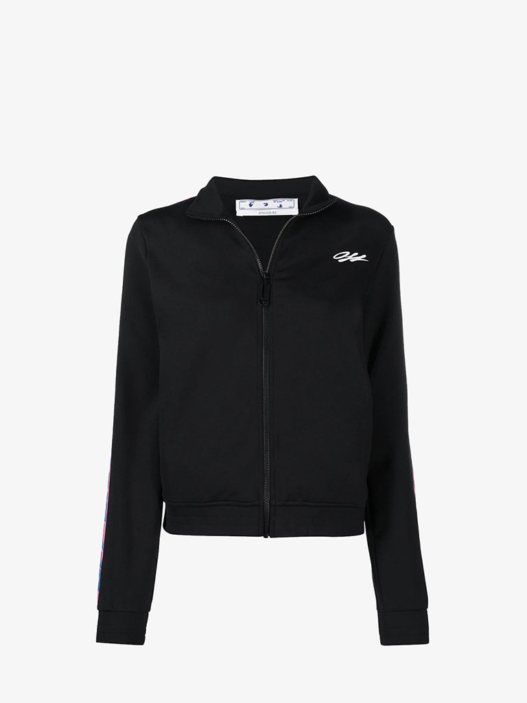 VL012R21FLE0011084 ATHLEISURE TRACK JACKET WOMEN-CLOTHING JACKET OFF-WHITE XS BLACK/MULTICOLOUR SMETS
