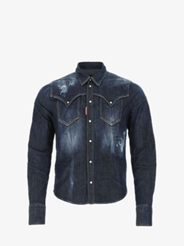 WESTER SHIRT MEN-CLOTHING SHIRT DSQUARED2 SMETS