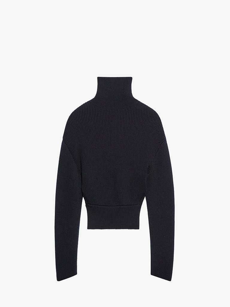 WOOL KNIT TURTLENECK SWEATER WOMEN-CLOTHING TURTLENECK BALENCIAGA SMETS