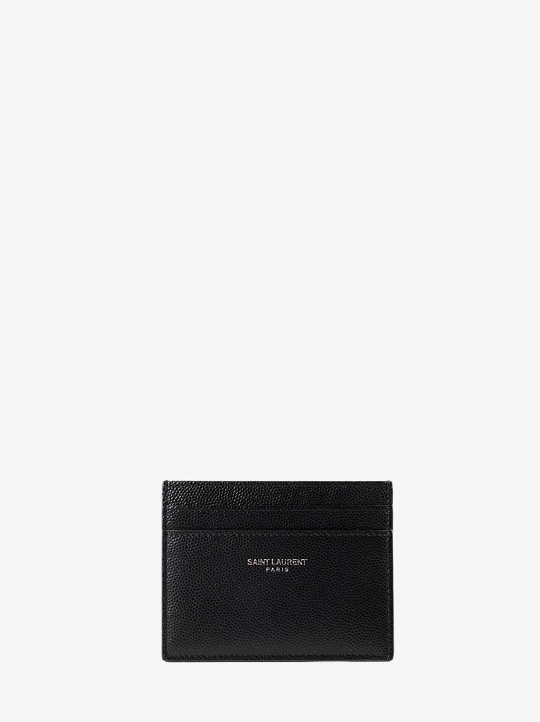 YSL MONOGRAM CREDIT CARD CASE MEN-ACCESSORIES SMALL LEATHER GOODS SAINT LAURENT SMETS