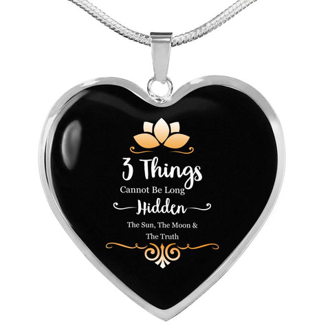 Image of The Sun, The Moon & The Truth Luxury Heart Necklace