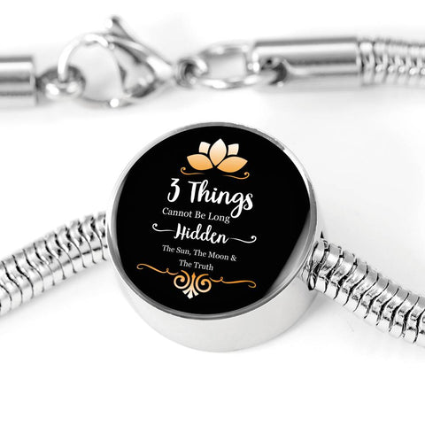 Image of The Sun, The Moon & The Truth Luxury Steel Bracelet