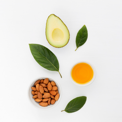 natural skincare ingredients for avocado and almond oil