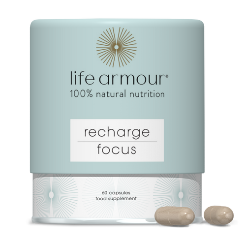 life armour nutrition Recharge Focus Capsules