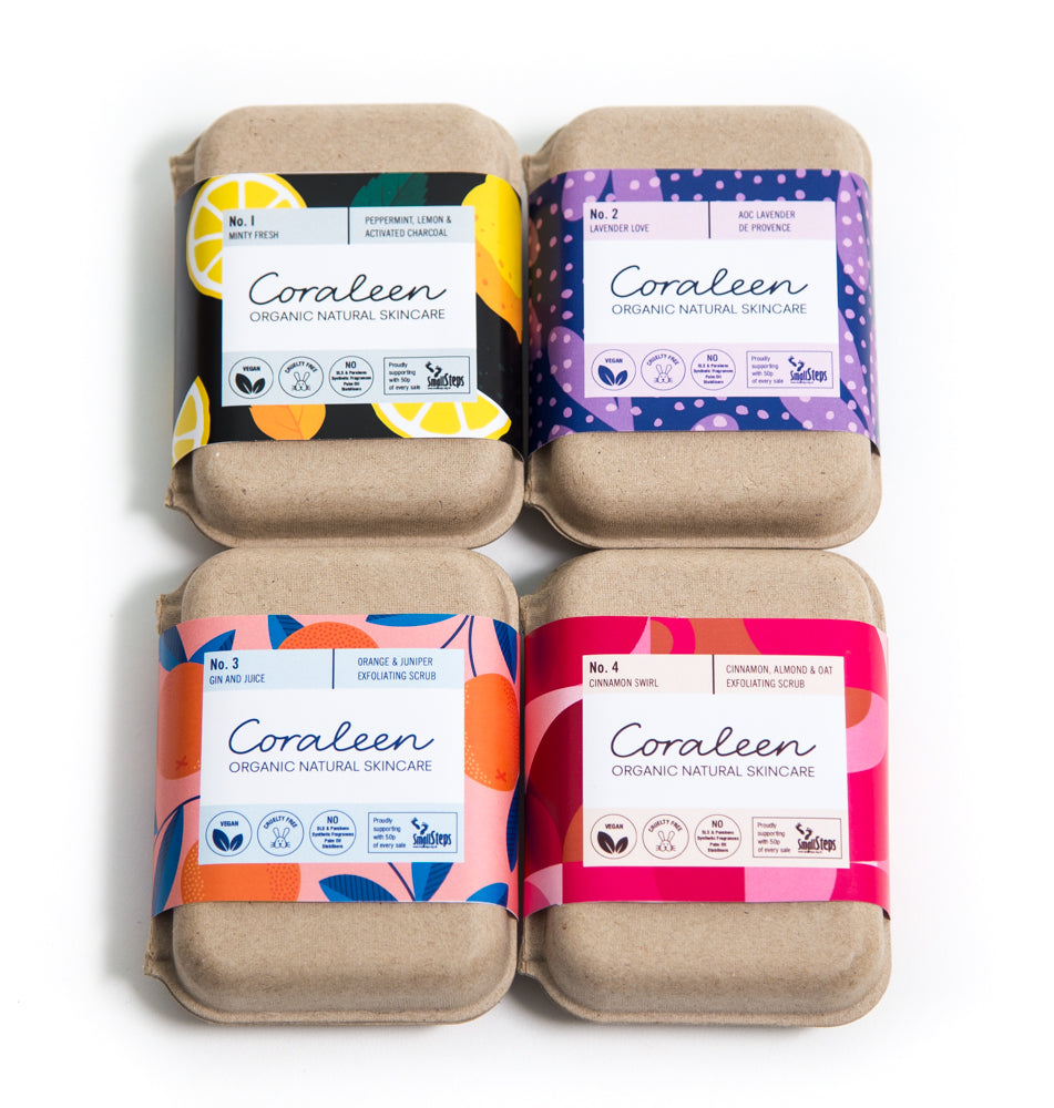 The Essential Mix Organic Soap 4 Pack - Coraleen