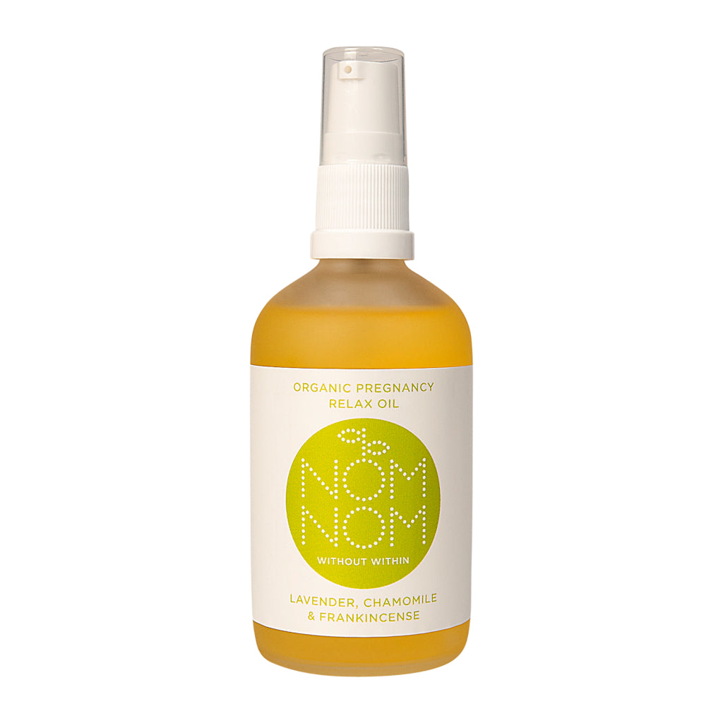 Nom Nom Organic Pregnancy Relax Oil Lavender Chamomile and Frankincense - Blomma Beauty