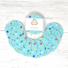 Load image into Gallery viewer, Set of 10 Reusable Cotton Pads with Star Pattern