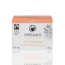 Load image into Gallery viewer, white box with peach lid which contains odylique's maca face mask inside