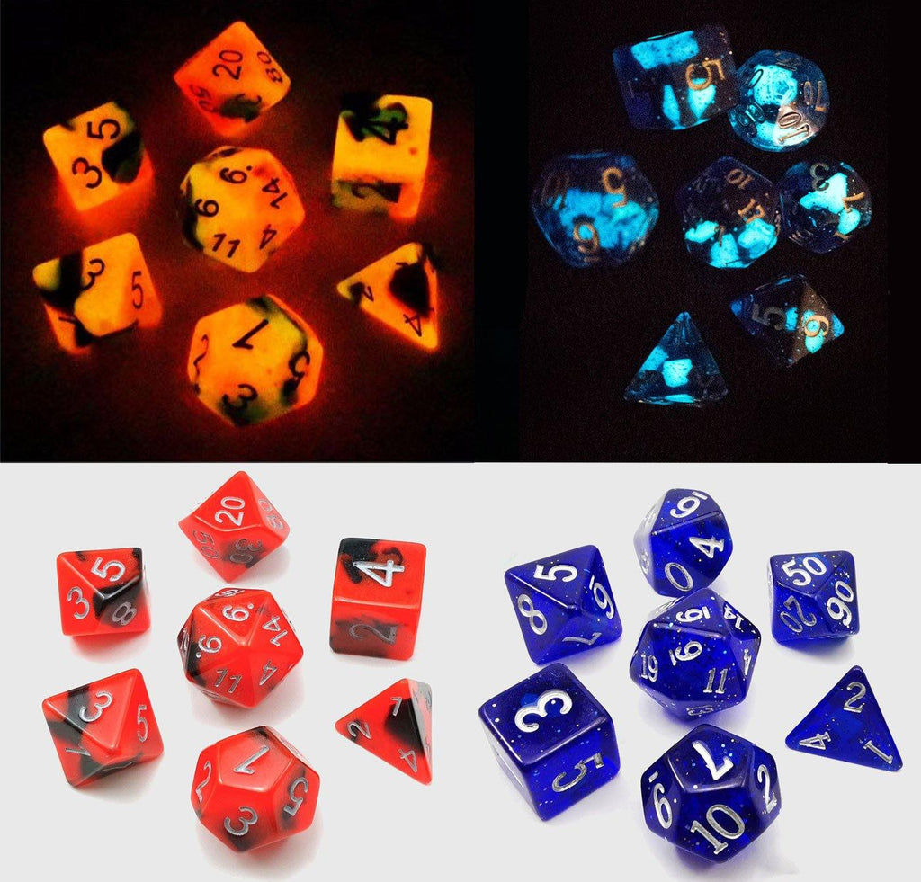 Fire & Ice Glow In The Dark Dice