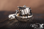 Viking Drakar Longship Ring