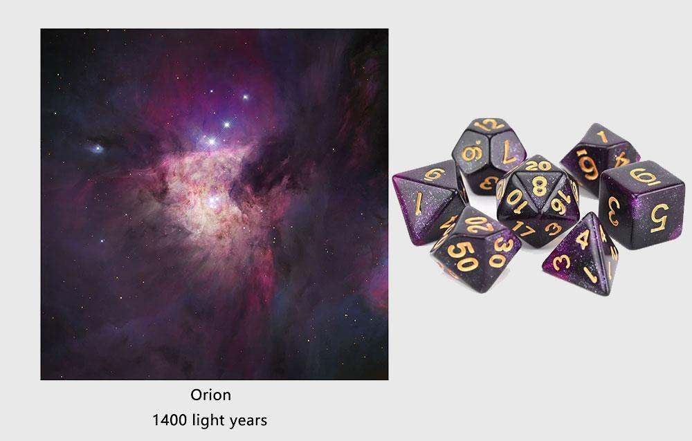 Galactic Space Dice Sets - Wyvern's Hoard