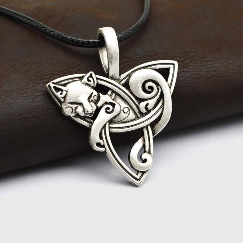 Fylgja Fox Triquetra Necklace